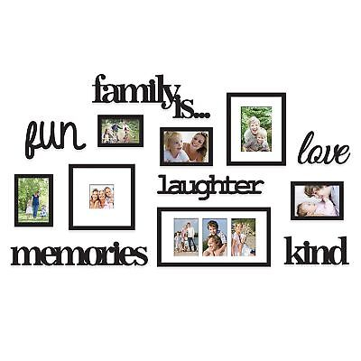 13-PIECE PICTURE PHOTO Frame Set Family Is Collage Black Gallery ...