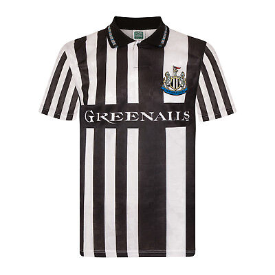 Newcastle United FC Official Football Gift Mens 1990 Retro Home Away Kit Shirt