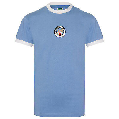 Manchester City FC Official Football Gift Mens 1972 Retro Home Kit Shirt