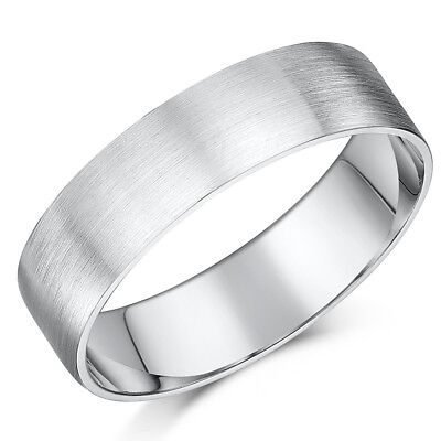6mm Slight Court Comfort Men//Ladies Wedding Band//Ring 2.5 5 3 Platinum 2 4