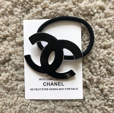 Brand New Chanel Vip Beaute Gift CC Hair Tie In Black NEW!