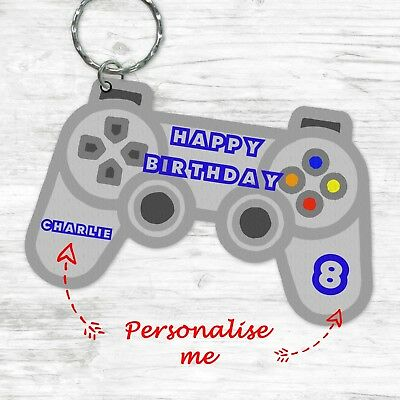 Personalised Birthday Gifts For Him Her Gamer Controller Keyring 16th 18th 21st