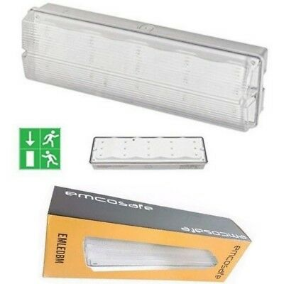 Outdoor Indoor EMERGENCY FIRE EXIT LIGHT 3 Hour LED NON BULKHEAD IP65 MAINTAINED
