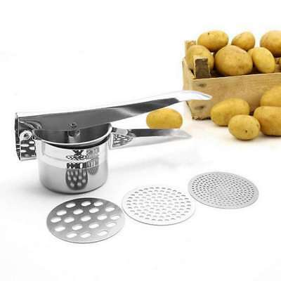 3 In 1 Professional Stainless Steel Potato Ricer Handheld Masher Juicer