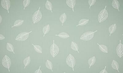 Luxury PRINTED 100% Cotton Heavy Canvas Fabric Craft Material - LEAVES MINT