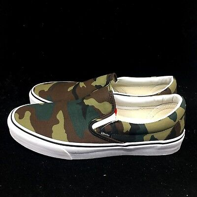 d3574352ee3 Vans Classic Slip On Camo Unisex Sneakers Canvas Shoes New VN0A38F7NRA