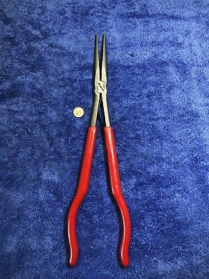 """Snap-On Tools NEW Red Grip 14-1/2"""" Long Reach Needenose Pliers 915CP"""