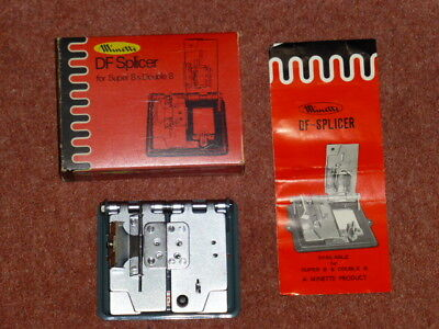 Vintage Minette Df Splicer For Super 8 & Double 8, Boxed With Manual & Leaflet,