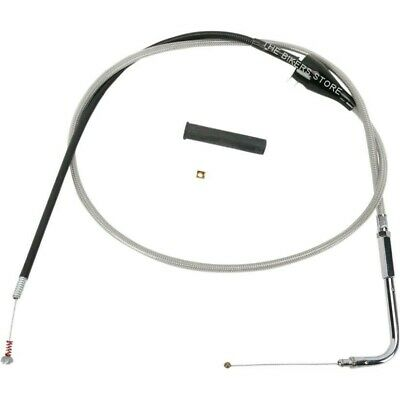 "Drag Specialties 0651-0174 46"" Braided Idle Cable For Harley"
