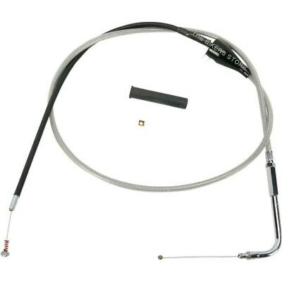 "Drag Specialties 0651-0175 48"" Braided Idle Cable For Harley"