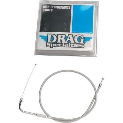"Drag Specialties 0651-0233 36.5"" Braided Idle Cable For Harley"