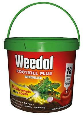 Scott's Weedol Rootkill Plus 18 Tubes WeedKiller Strong & Fast Acting