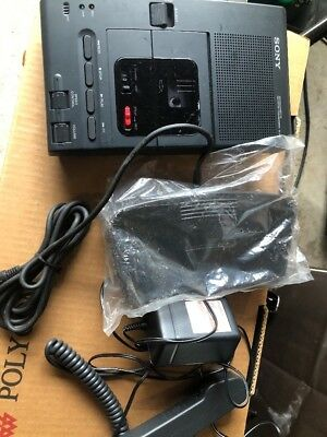 Sony M-2020 Microcassette Dictator Transcriber Recorder W. Extras/New Foot Pedal