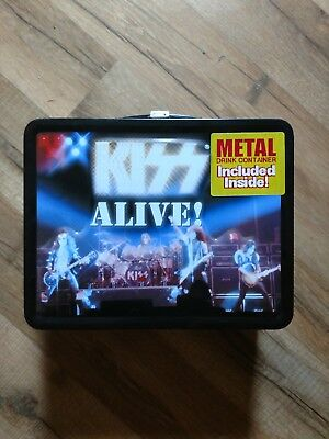 KISS alive! lunchbox, with thermos