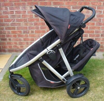 Phil And Teds Vibe Verve Double Buggy Pushchair Pram Stroller Extras
