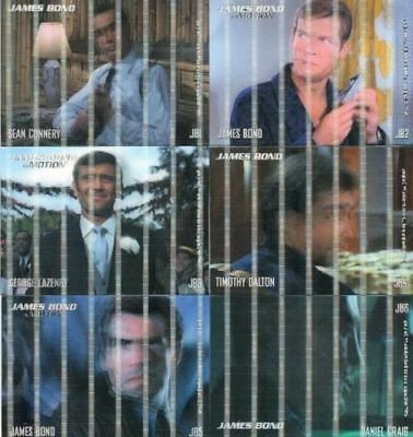 James Bond in Motion 2008 Lenticular Chase Card Set JB1 - JB6