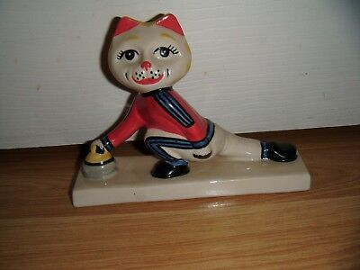 Lorna Bailey Cat From The Winter Olympics Range ~ Curling ~ Excellent