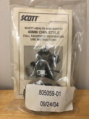 Scott Cartridge Adapter For Full Facepiece AV2000 Respirator NEW 40MM Chin Style