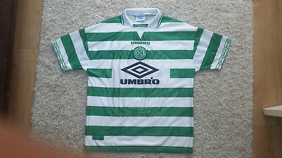 CELTIC FC football Home shirt 1997-1998 size XL - 20yrs old collectable shirt