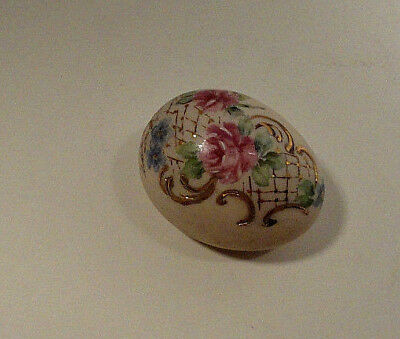 Hand Painted Easter Egg Floral Motif