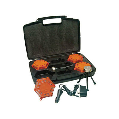 "Aervoe 1168 Super LED Road Flare Kit (4-pack)  Red LEDs / Safety 'Orange"" shell"