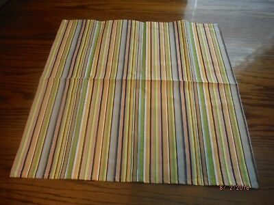Longaberger Summertime Stripe Fabric Napkins - New no bag. Set of 2