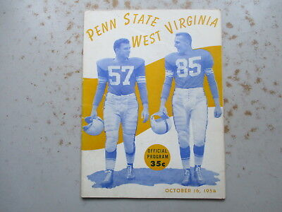 Football Program - Penn State vs. West Virginia - October 16, 1954