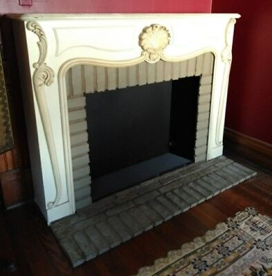 Vintage French Provincial Fireplace Mantel Box Surround