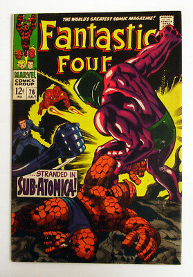 Fantastic Four #76 1968 Marvel Comic Lee Kirby Silver Surfer Psycho Man cameo