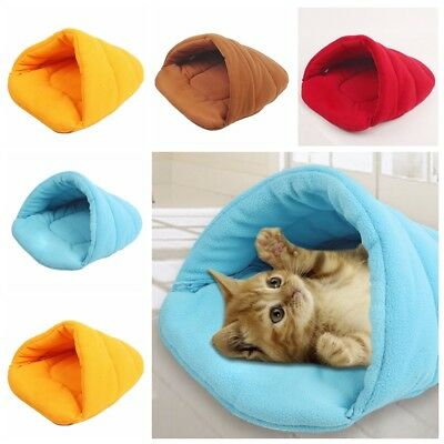 For Puppy Pet Cat Dog Nest Bed Puppy Soft Warm Cave House Sleeping Bag Mat Pad