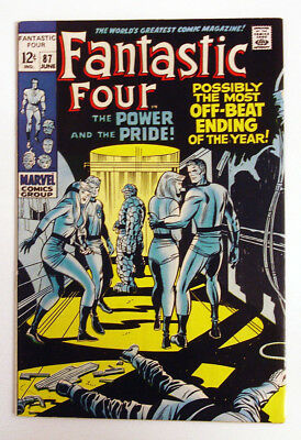 Fantastic Four #87 1969 Silver Age Marvel Comic Lee Kirby FF Vs Doctor Doom