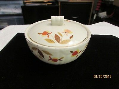 Vintage Hall Jewel Autumn Leaf Bowl with Lid - Sugar, Butter, Condiments & More
