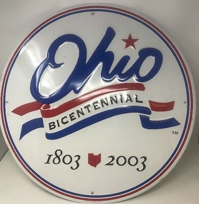 Ohio Bicentennial 1803 - 2003 23 Inch Metal Wall Plaque Large New