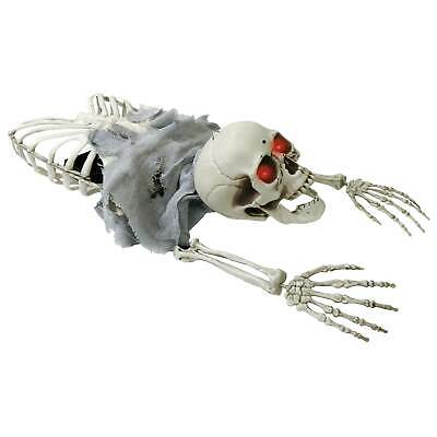 Halloween Haunters Animated Crawling Skeleton Zombie Skull Groundbreaker Prop