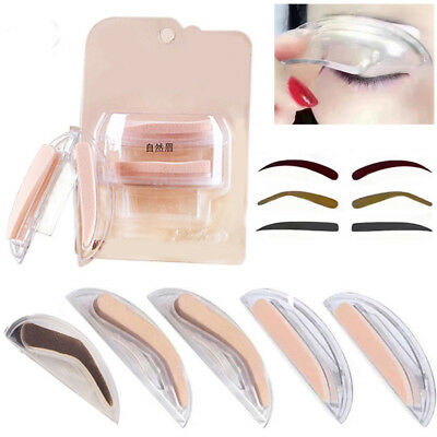 AU_ Fashion Eyebrow Stencil Template Stamp Seal Natural Brow Type Makeup Tool B
