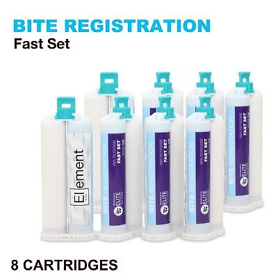 ELEMENT VPS Bite Registration Material FAST Set 8x 50ML Cartridges Dental PVS