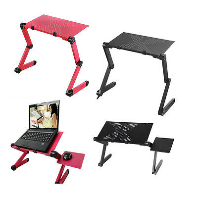 """360° Adjustable Foldable 18"""" Laptop Notebook Trays Desk Table Stand 4COLOURS"""