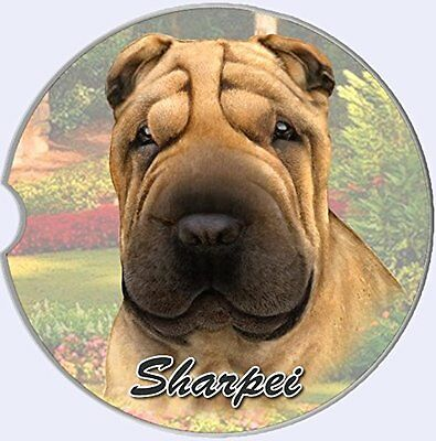 Sharpei Car Coaster Absorbent Keep Cup Holder Dry Stoneware Dog New Shar Pei