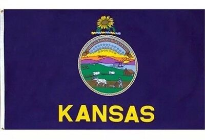 NEW 3x5 ft KANSAS STATE OF FLAG