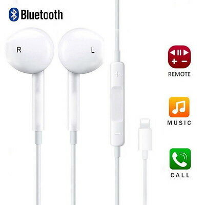 Wired Bluetooth Earbuds Headphones Headsets In-ear for Apple iPhone XS max XR X