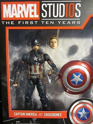 "Marvel Legends 6"" MCU Studios the First Ten Years Captain America Faceprint Tech"