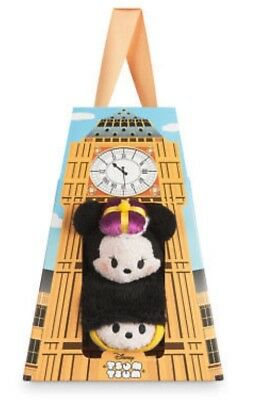 "NIB ~ Disney LONDON Tsum Tsum Box Set Mickey & Minnie Mini 3½"" Plush ~ BRAND NEW"