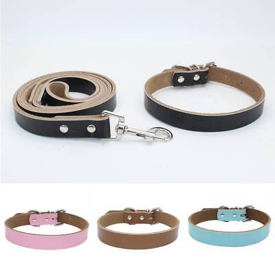 DIY Personalized Adjustable Pet Dog Leather Collar Puppy Cat Buckle Neck Strap
