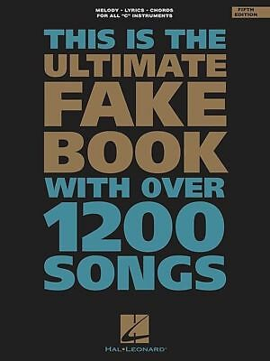 Ultimate Fake Book - 5th Edition PVG *NEW* Sheet Music, 1200 Songs, Piano