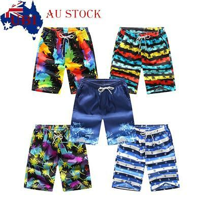 Men's Quick-Dry Swim Beach Pants Boardshorts Surf Shorts Board Trunks Summer AU