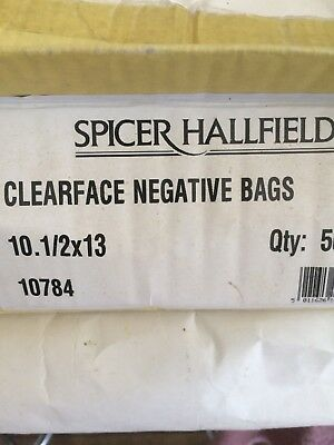 spicer hallfield clear face negative bags 101/2 x 13 - 420