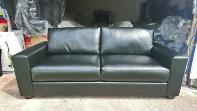 FREE LOCAL DELIVERY brand new black leather 3 seater sofa RRP £499 ...