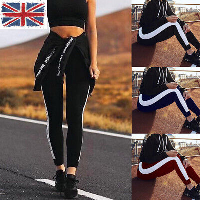 UK Sports Womens Yoga Workout Gym Fitness Leggings Pants Ladies Athletic Clothes