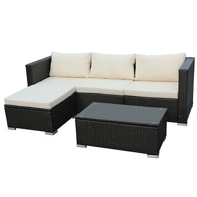 POLY-RATTAN LOUNGE QUEENS Sofa Gartenset Garnitur Polyrattan ...