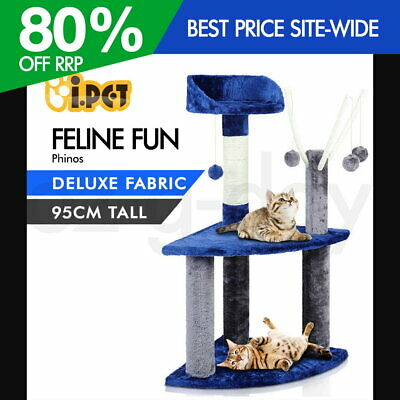 i.Pet Cat Scratching Tree Post Gym House Scratcher Pole Furniture Toy Small 95cm